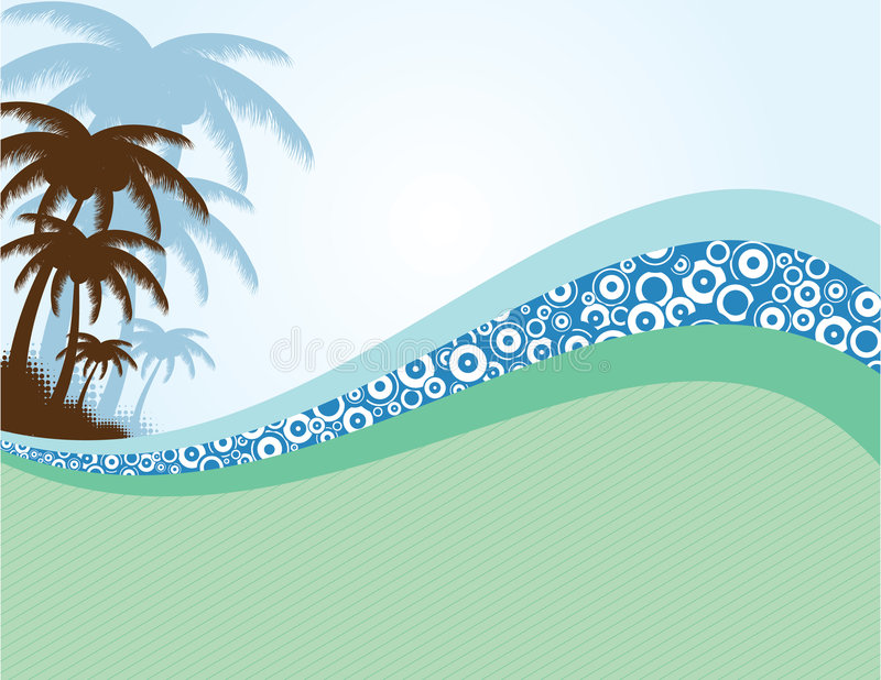 Summer background with palms royalty free illustration
