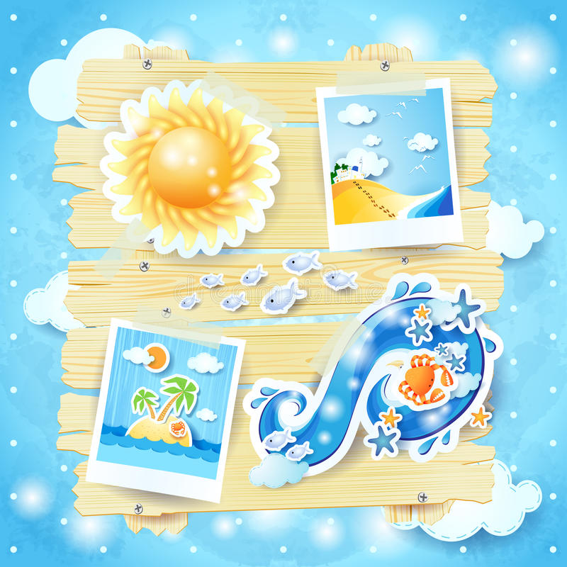 Download Summer Background With Paper Elements Stock Vector - Image: 37282323
