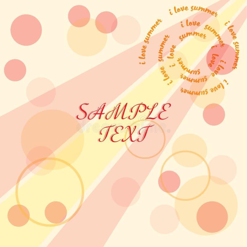 Summer background. Pastel colors. Inspiring typography poster, banner vector illustration