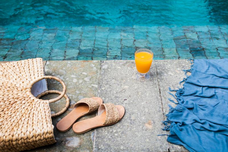 Summer holiday fashion concept. royalty free stock image