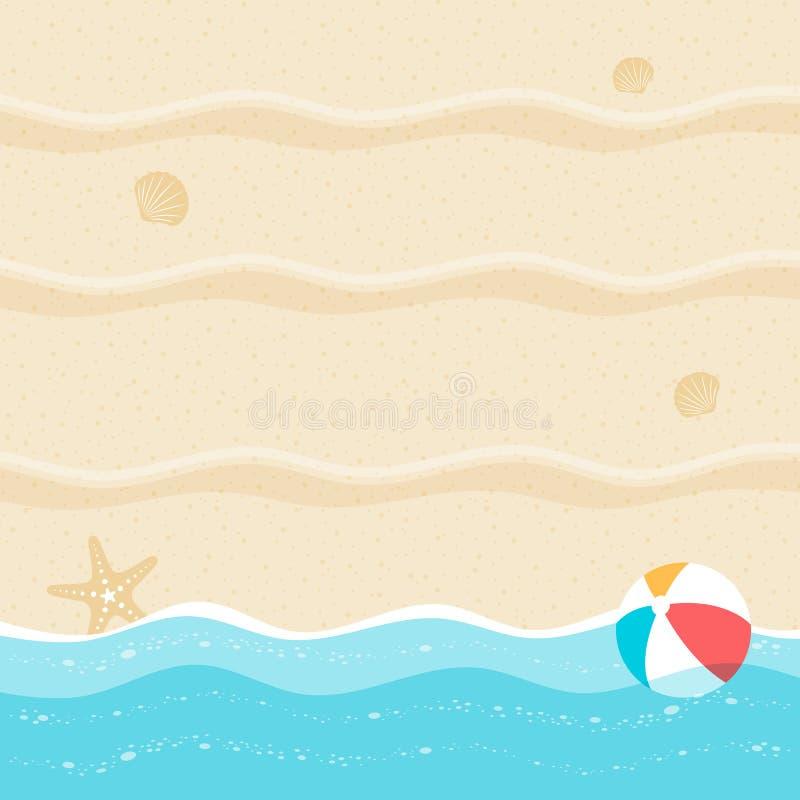 Summer background, summer time, summer holiday concept vector illustration stock illustration