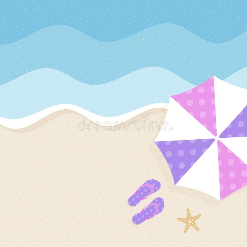 Summer background, summer time, summer holiday concept vector illustration royalty free illustration