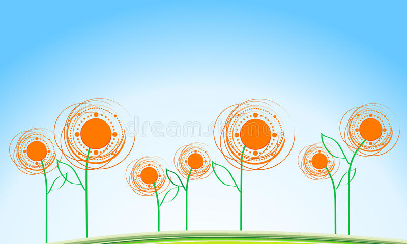 Download Summer Background With Sunflowers Stock Vector - Image: 13624624