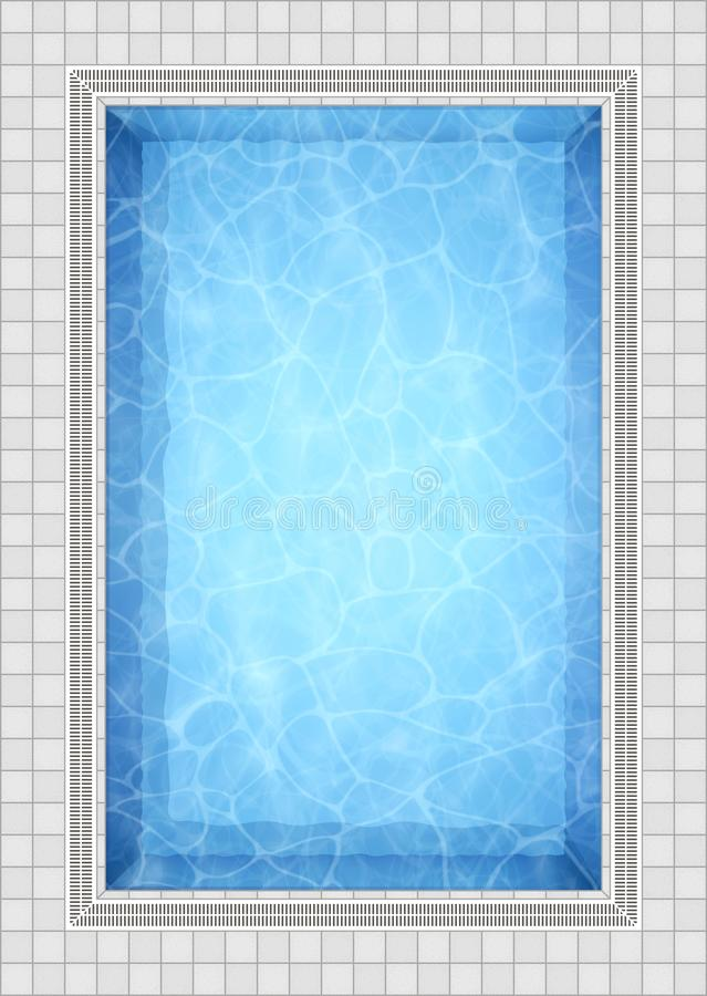Summer background. Swimming pool bottom caustics ripple and flow with waves background. Overhead view. Texture of water royalty free illustration