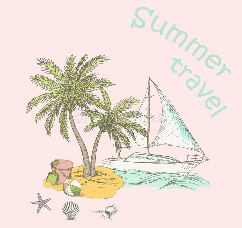 Summer background 2 vector illustration