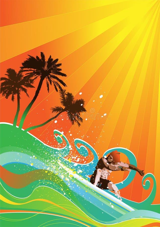 Summer background vector royalty free illustration