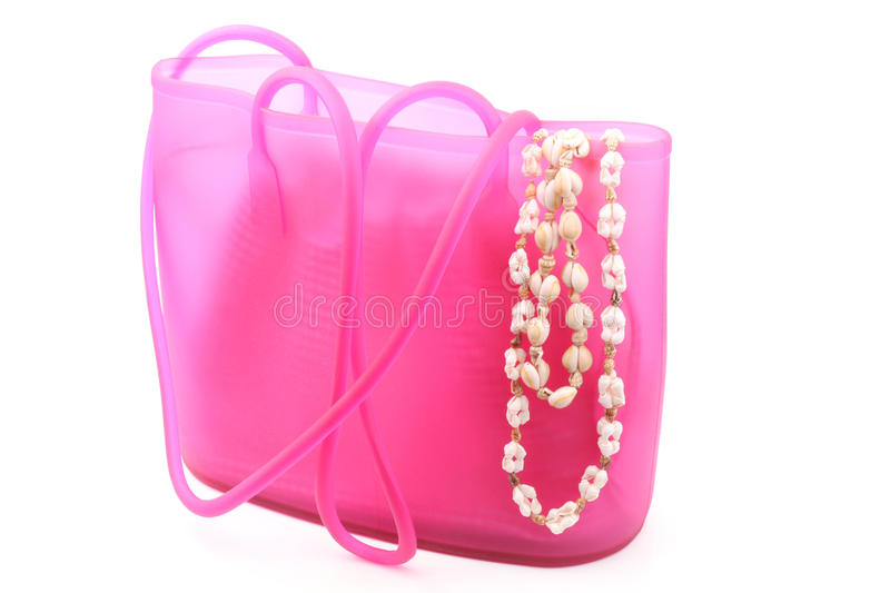 Download Summer Bag With Beach Necklace Stock Image - Image: 14115517
