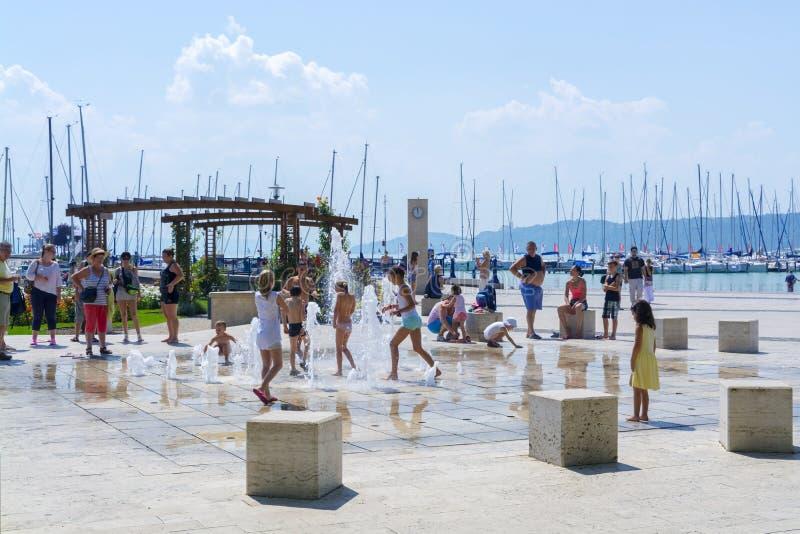 Summer in Balatonfured royalty free stock photography