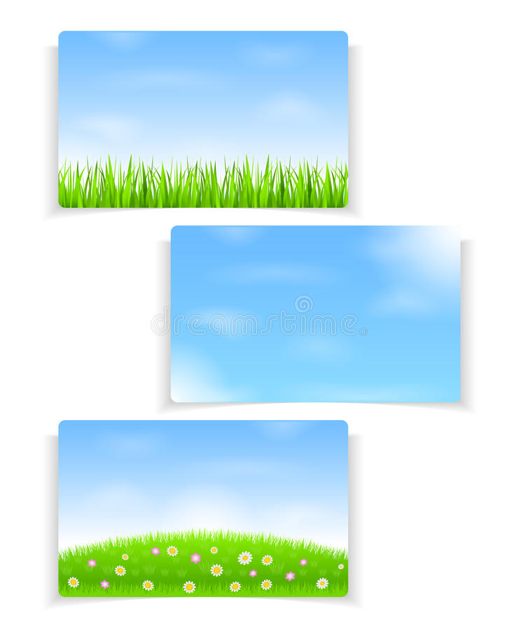 Download Summer banners stock vector. Image of banner, spring - 25445321