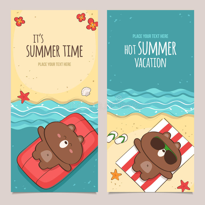 Summer banners royalty free illustration