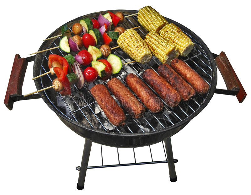 Download Summer barbecue stock photo. Image of summer, kebabs, sizzle - 9666268
