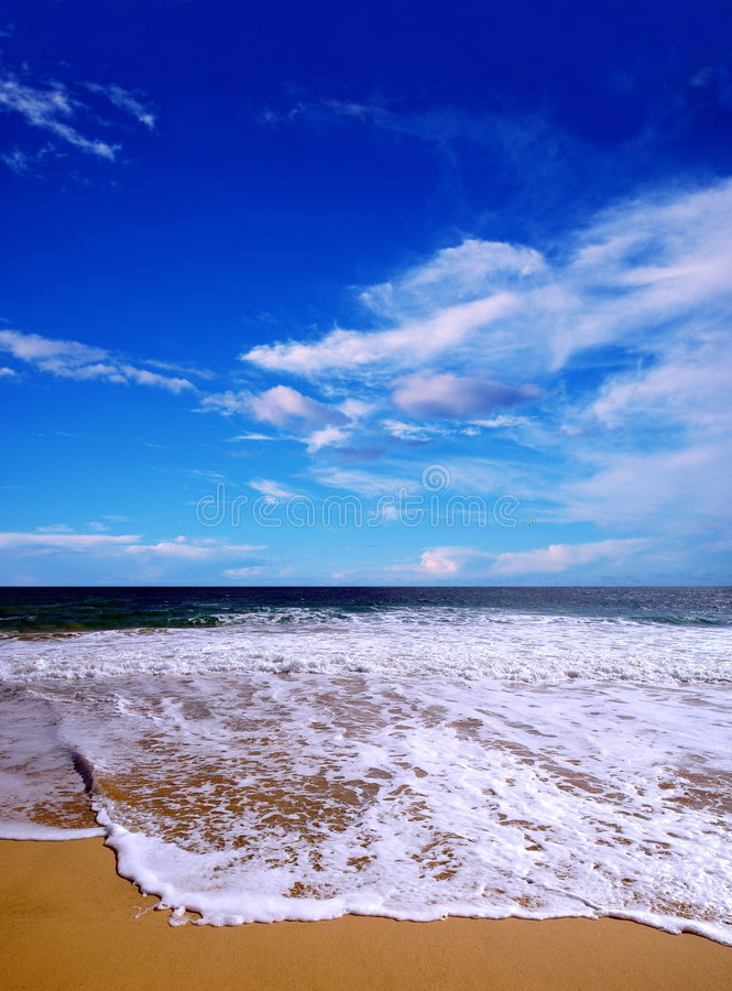 Download Summer beach stock image. Image of natural, clouds, wave - 108137