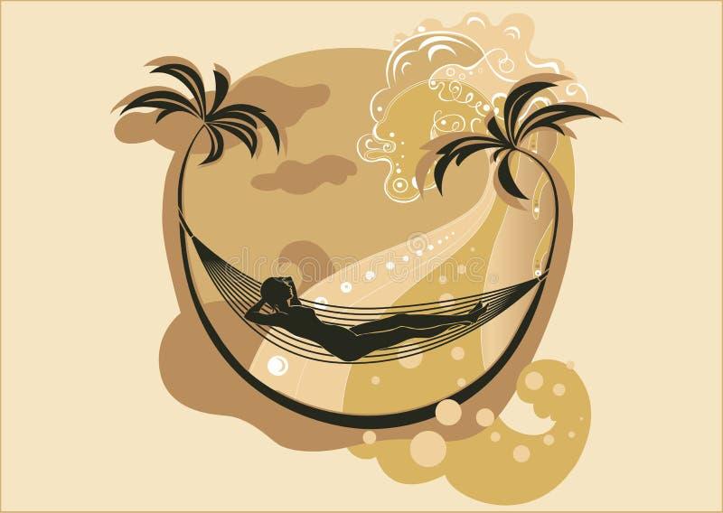 Summer beach vector illustration