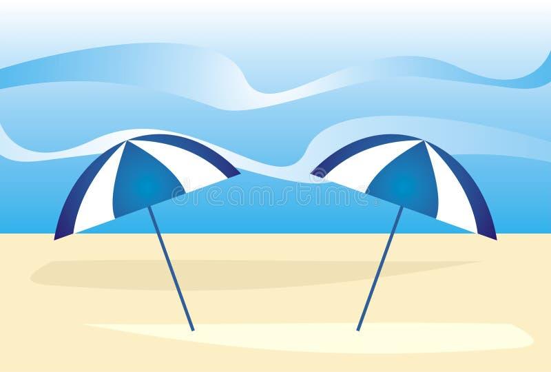 Summer beach royalty free illustration
