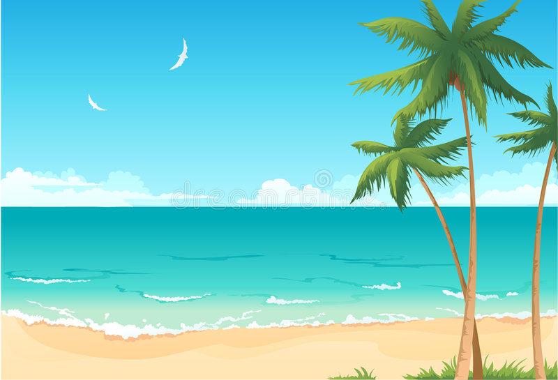 Summer beach stock illustration