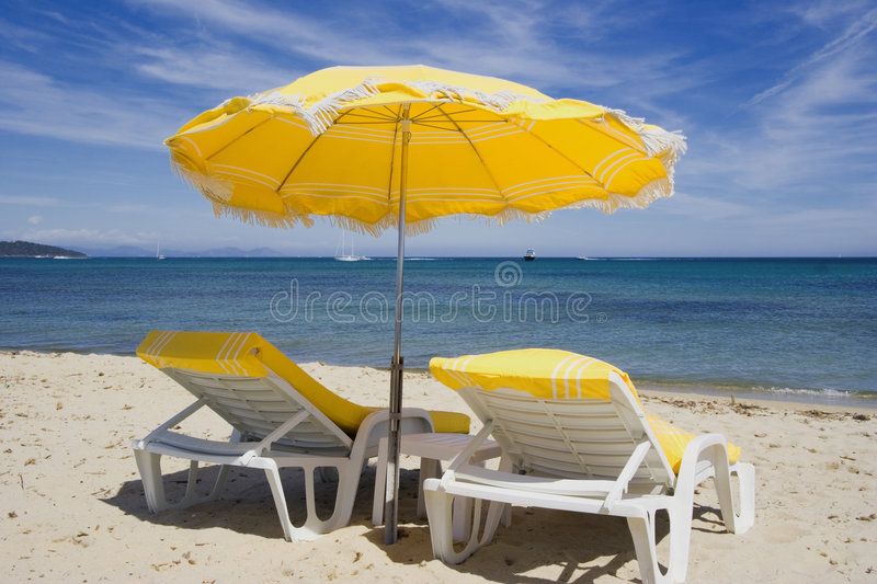 Summer on the beach royalty free stock image