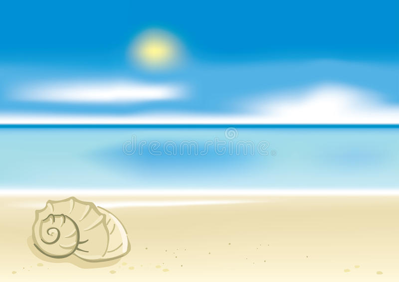 Summer beach background stock illustration