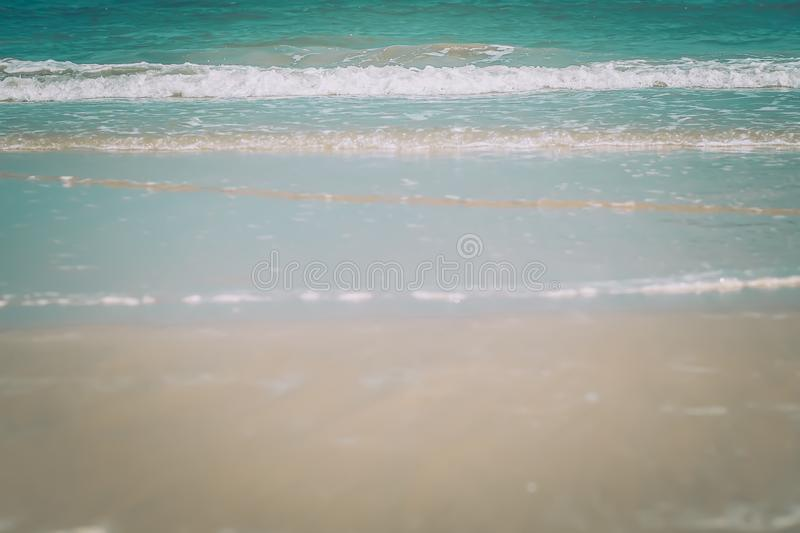 Summer beach background. white Sand peacefulness holiday concept idea with blue sea and sky stock photos