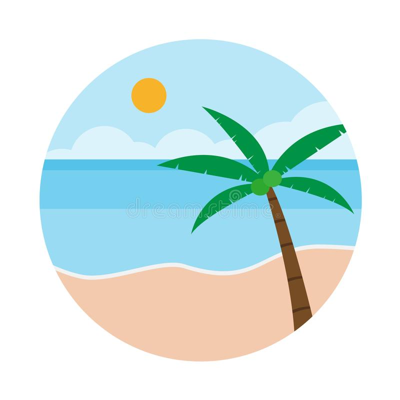 summer beach and coconut tree on the background of the sea stock rh dreamstime com beach clipart background beach clipart no background
