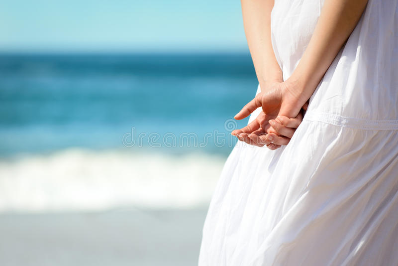 Summer on beach concept royalty free stock photography