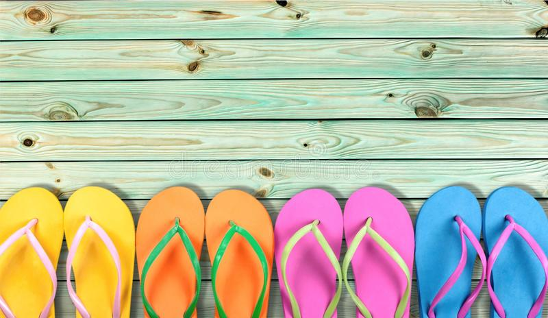 Summer. Beach Flip-flop Vacations Travel Destinations Travel Backgrounds royalty free stock photos