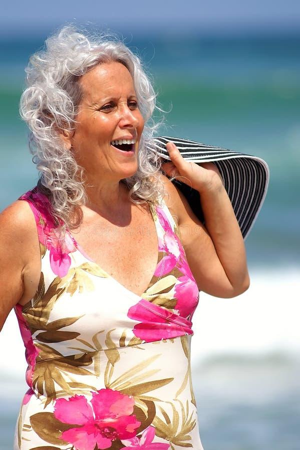 Summer beach fun stock photography