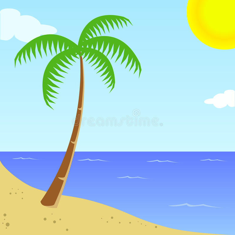Summer at beach royalty free stock images