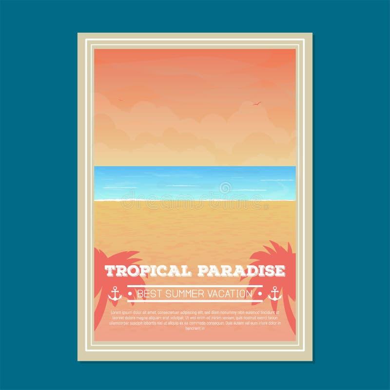 Summer beach holiday banner vector illustration