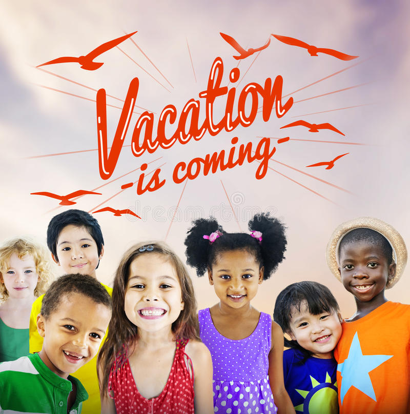 Summer Beach Holiday Vacation Summertime Concept stock photo