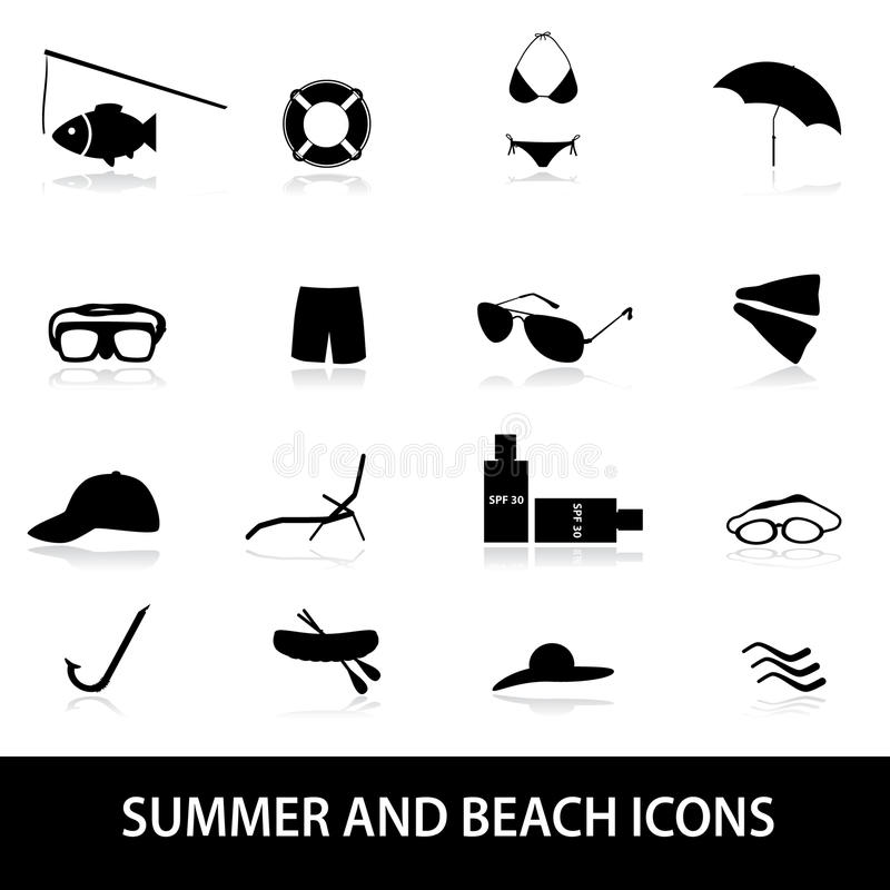 Download Summer And Beach Icons Eps10 Stock Vector - Image: 39241792