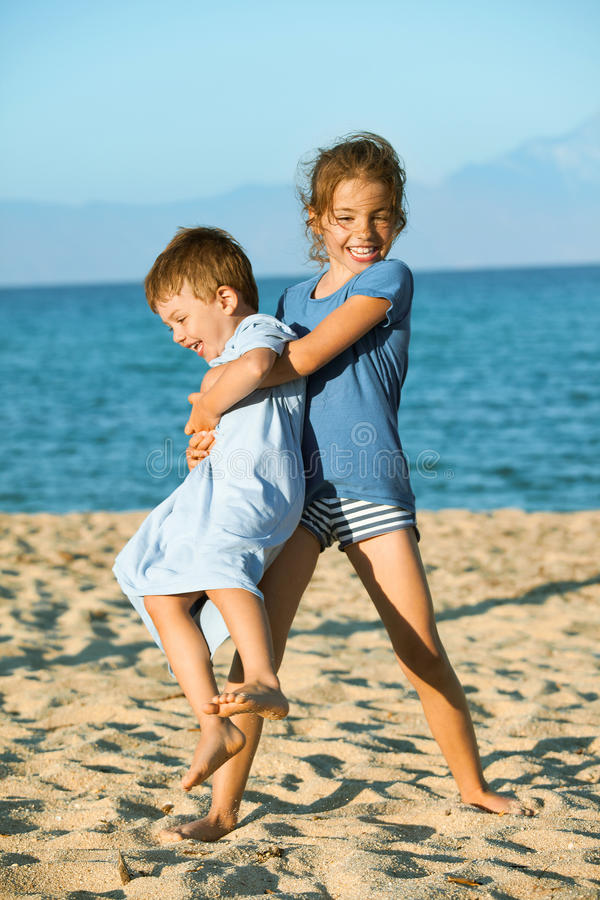 Summer beach kids royalty free stock image