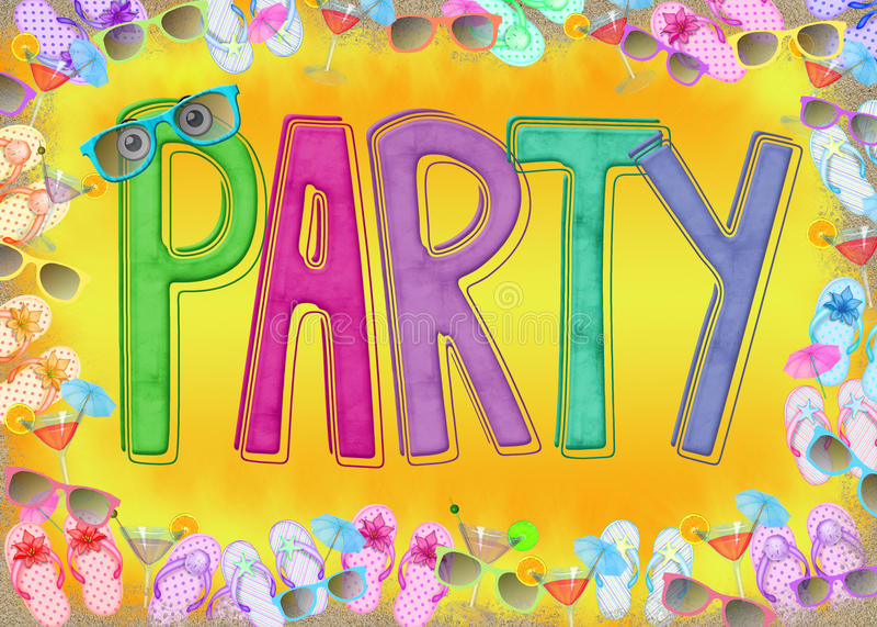 Summer Beach Party stock illustration