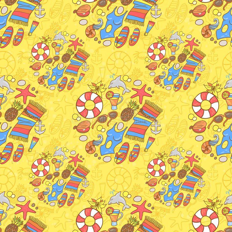 Download Summer Beach Pattern Stock Illustration - Image: 50375996