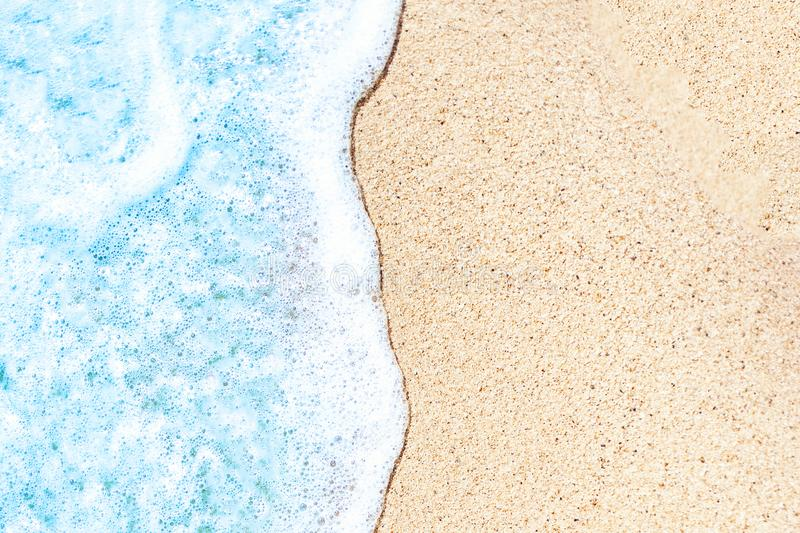 Summer beach and soft wave background. Sand and sea. Tropical s stock photos