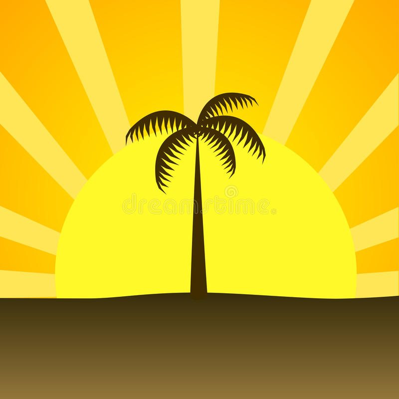 Summer beach sunset royalty free stock photos