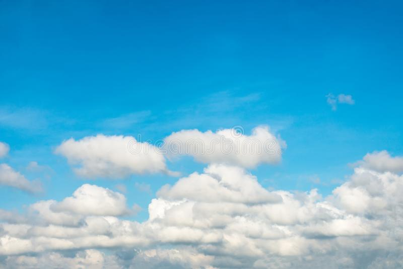 Beautiful in the blue sky with clouds. Summer and beautiful in the blue sky with clouds stock photos