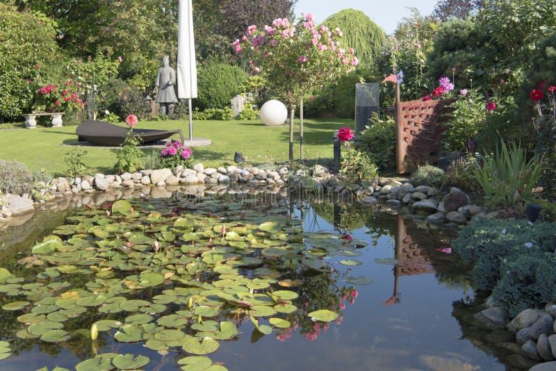 Summer in beautiful garden royalty free stock photo