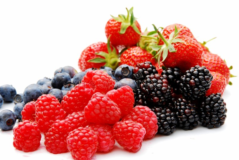 Summer berries stock photos