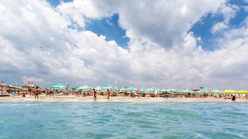 Summer at the Black Sea stock image