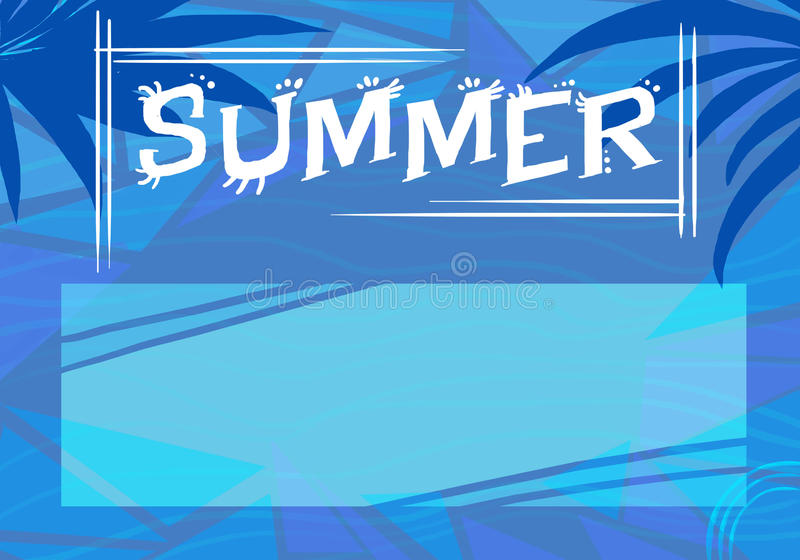Summer & x28;blue card& x29; royalty free stock images