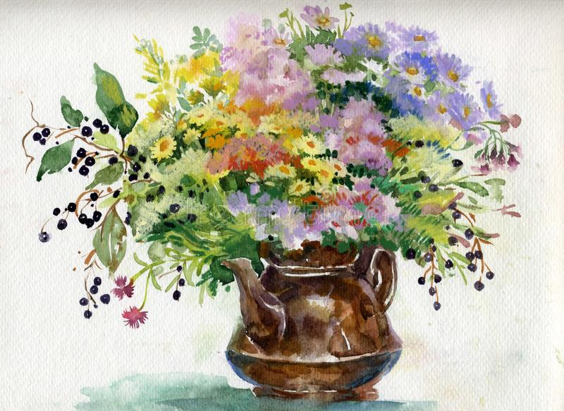 Summer bouquet of flowers royalty free stock images