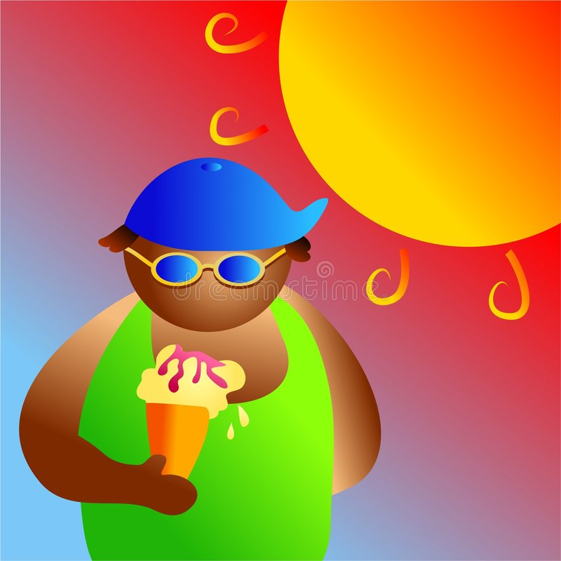 Summer boy stock illustration