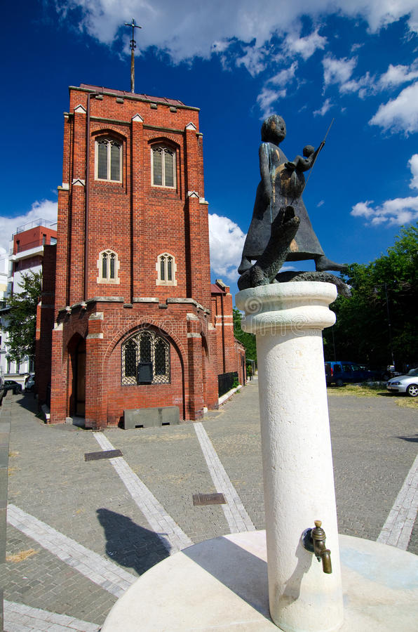 Summer in Bucharest - The Anglican Church stock photography