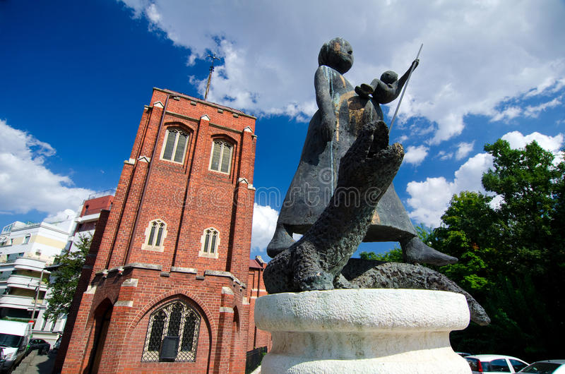 Summer in Bucharest - The Anglican Church royalty free stock photos