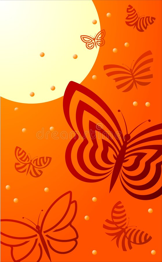 Summer Butterflies vector illustration