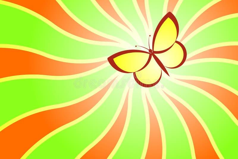 Summer Butterfly stock illustration