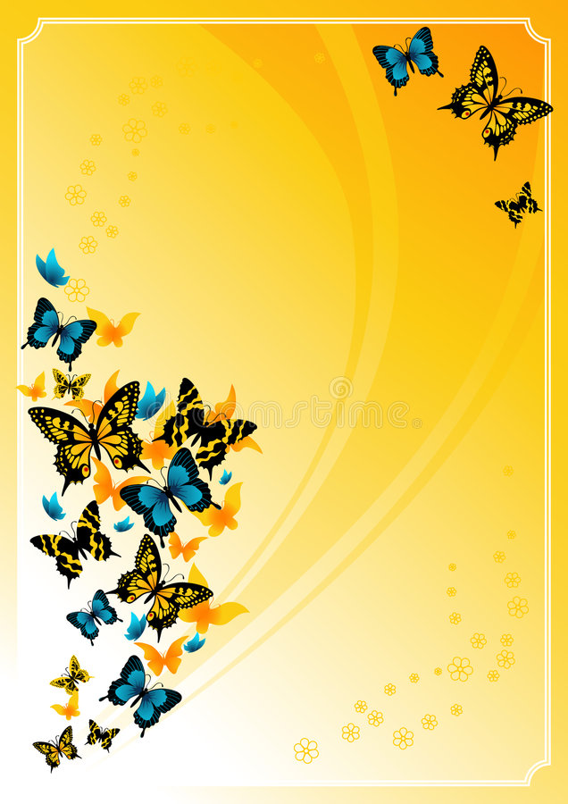 Download Summer_butterfly_frame stock vector. Image of nature, decoration - 4746553
