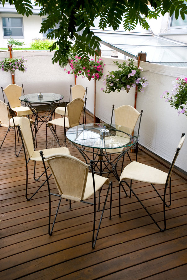 Download Summer cafe terrace stock photo. Image of european, patio - 5780984