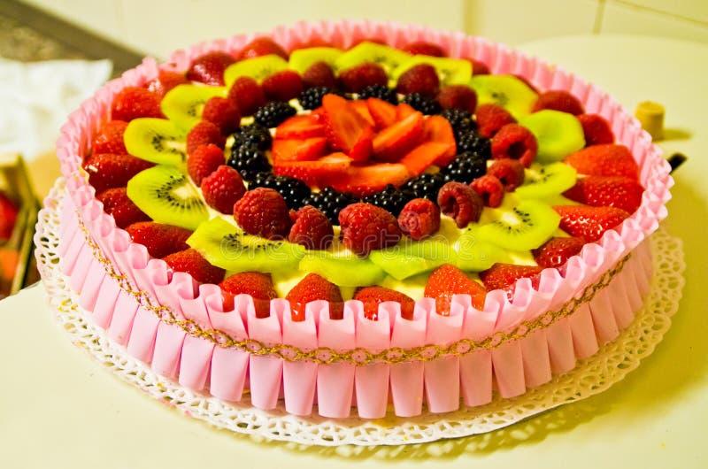 Summer Cake With Fresh Fruit Stock Image Image of birthday desert