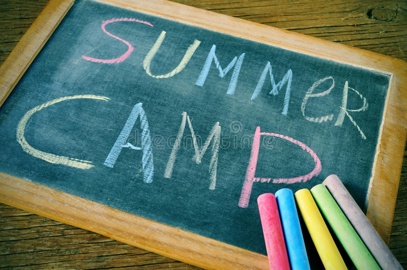 Summer camp royalty free stock image